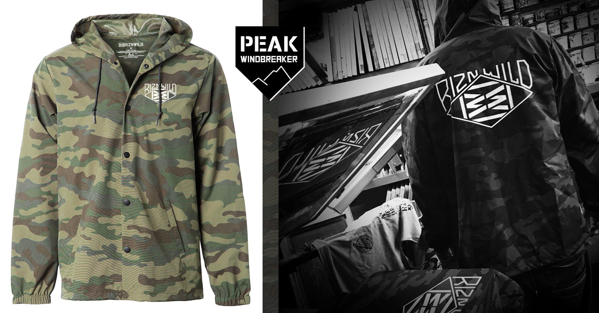 Riznwild Peak Water Resistant Windbreaker