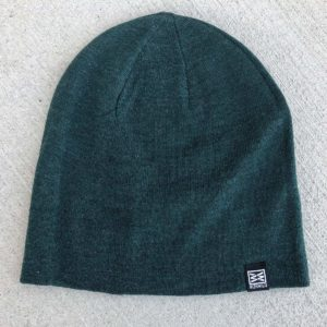 RIZNWILD Mood Slouch Beanie in Green Heather