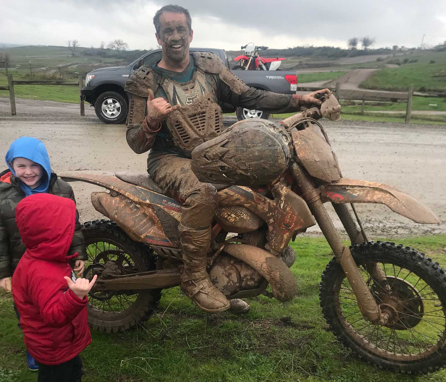 Randy Getting Muddy