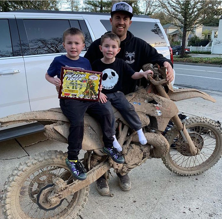 Randy and his son's
