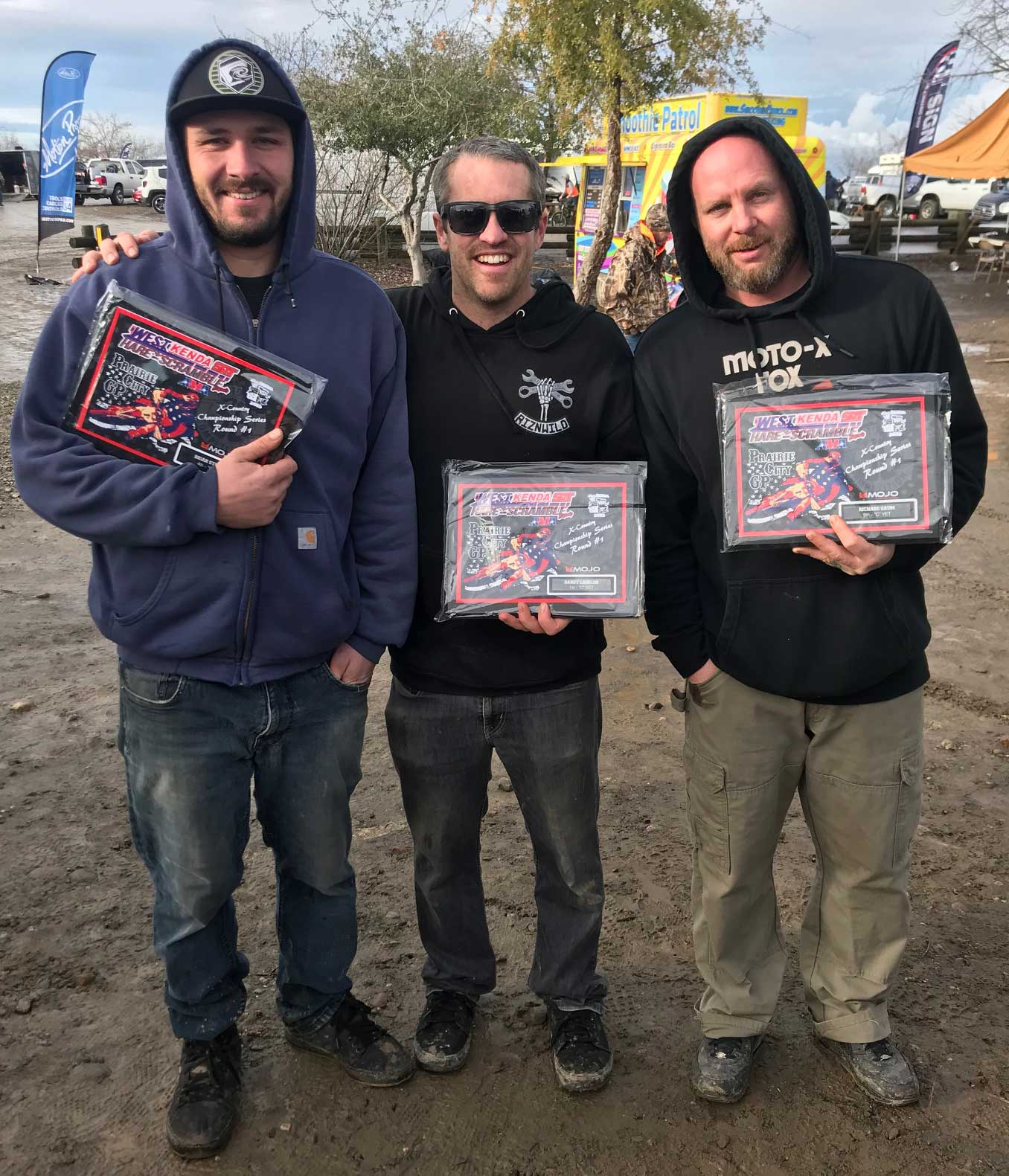 Riding Crew Trophy's in hand