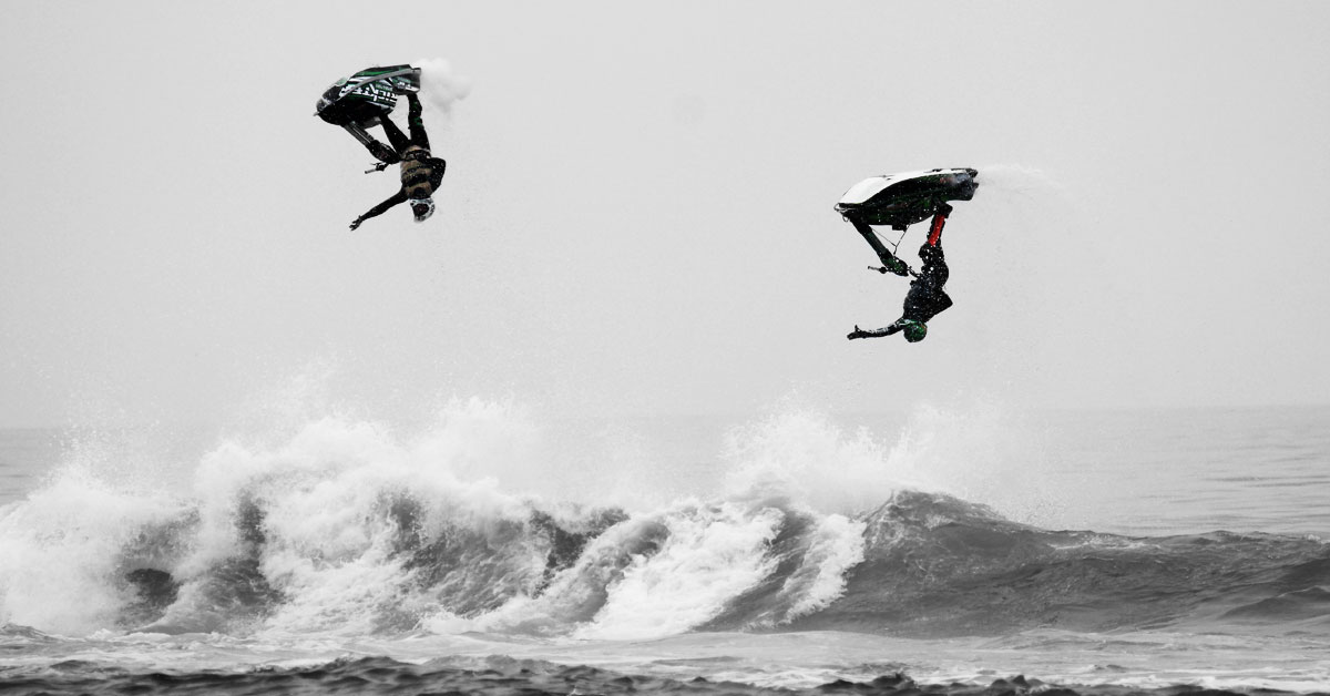 Randy Lawlor and Pete McAfee Competing at Surf Slam 2014