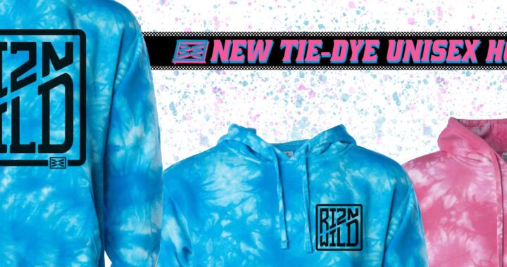 New RIZNWILD tie-dye hoodies
