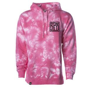 RIZNWILD Tie-Dye hoodie Pink