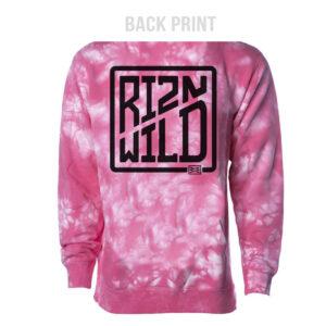 RIZNWILD Tie-Dye hoodie Pink back view