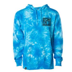 RIZNWILD Aqua Blue Tie-Dye hoodie